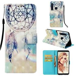 Fantasy Campanula 3D Painted Leather Wallet Case for Samsung Galaxy A9 (2018) / A9 Star Pro / A9s