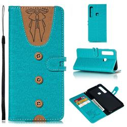 Ladies Bow Clothes Pattern Leather Wallet Phone Case for Samsung Galaxy A9 (2018) / A9 Star Pro / A9s - Green