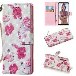 Flamingo 3D Painted Leather Wallet Phone Case for Samsung Galaxy A9 (2018) / A9 Star Pro / A9s