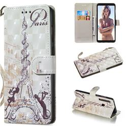 Tower Couple 3D Painted Leather Wallet Phone Case for Samsung Galaxy A9 (2018) / A9 Star Pro / A9s