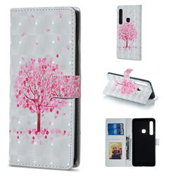 Sakura Flower Tree 3D Painted Leather Phone Wallet Case for Samsung Galaxy A9 (2018) / A9 Star Pro / A9s