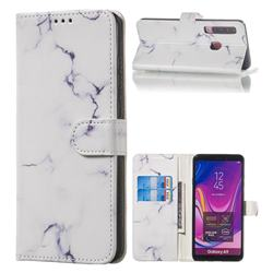 Soft White Marble PU Leather Wallet Case for Samsung Galaxy A9 (2018) / A9 Star Pro / A9s