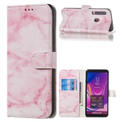 Pink Marble PU Leather Wallet Case for Samsung Galaxy A9 (2018) / A9 Star Pro / A9s