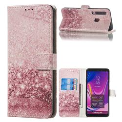 Glittering Rose Gold PU Leather Wallet Case for Samsung Galaxy A9 (2018) / A9 Star Pro / A9s