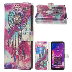 Butterfly Chimes PU Leather Wallet Case for Samsung Galaxy A9 (2018) / A9 Star Pro / A9s