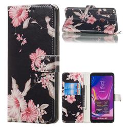 Azalea Flower PU Leather Wallet Case for Samsung Galaxy A9 (2018) / A9 Star Pro / A9s