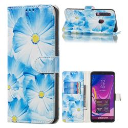 Orchid Flower PU Leather Wallet Case for Samsung Galaxy A9 (2018) / A9 Star Pro / A9s