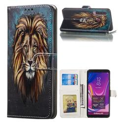 Ice Lion 3D Relief Oil PU Leather Wallet Case for Samsung Galaxy A9 (2018) / A9 Star Pro / A9s