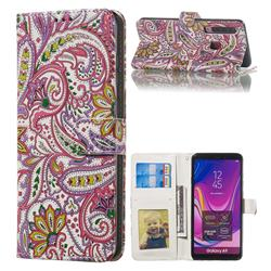 Pepper Flowers 3D Relief Oil PU Leather Wallet Case for Samsung Galaxy A9 (2018) / A9 Star Pro / A9s