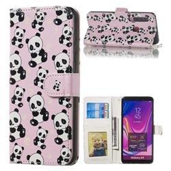 Cute Panda 3D Relief Oil PU Leather Wallet Case for Samsung Galaxy A9 (2018) / A9 Star Pro / A9s