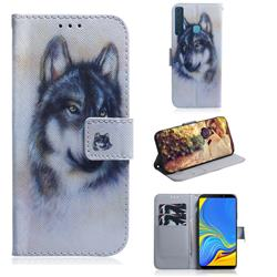 Snow Wolf PU Leather Wallet Case for Samsung Galaxy A9 (2018) / A9 Star Pro / A9s