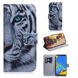 White Tiger PU Leather Wallet Case for Samsung Galaxy A9 (2018) / A9 Star Pro / A9s