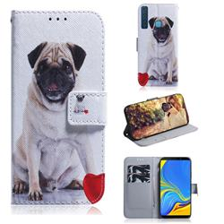Pug Dog PU Leather Wallet Case for Samsung Galaxy A9 (2018) / A9 Star Pro / A9s