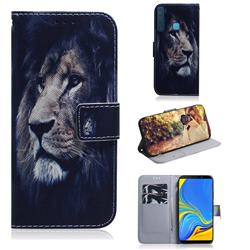 Lion Face PU Leather Wallet Case for Samsung Galaxy A9 (2018) / A9 Star Pro / A9s