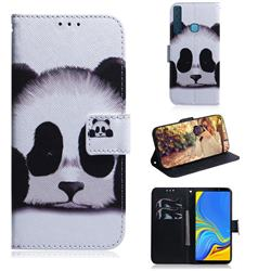 Sleeping Panda PU Leather Wallet Case for Samsung Galaxy A9 (2018) / A9 Star Pro / A9s