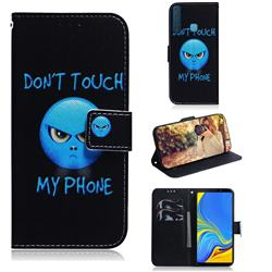 Not Touch My Phone PU Leather Wallet Case for Samsung Galaxy A9 (2018) / A9 Star Pro / A9s