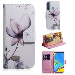 Magnolia Flower PU Leather Wallet Case for Samsung Galaxy A9 (2018) / A9 Star Pro / A9s