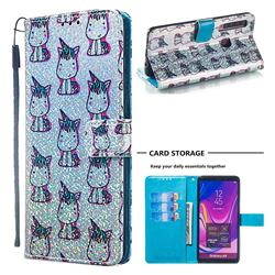 Little Unicorn Sequins Painted Leather Wallet Case for Samsung Galaxy A9 (2018) / A9 Star Pro / A9s