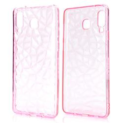 Diamond Pattern Shining Soft TPU Phone Back Cover for Samsung Galaxy A8 Star (A9 Star) - Pink