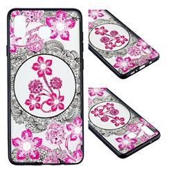 Daffodil Lace Diamond Flower Soft TPU Back Cover for Samsung Galaxy A8 Star (A9 Star)