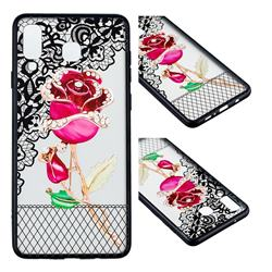 Rose Lace Diamond Flower Soft TPU Back Cover for Samsung Galaxy A8 Star (A9 Star)