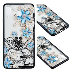 Lilac Lace Diamond Flower Soft TPU Back Cover for Samsung Galaxy A8 Star (A9 Star)