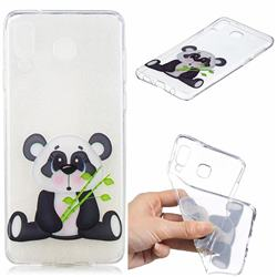Bamboo Panda Clear Varnish Soft Phone Back Cover for Samsung Galaxy A8 Star (A9 Star)