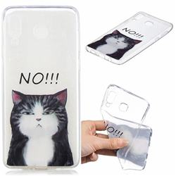 Cat Say No Clear Varnish Soft Phone Back Cover for Samsung Galaxy A8 Star (A9 Star)