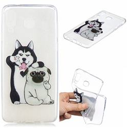 Selfie Dog Clear Varnish Soft Phone Back Cover for Samsung Galaxy A8 Star (A9 Star)