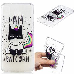 Batman Clear Varnish Soft Phone Back Cover for Samsung Galaxy A8 Star (A9 Star)