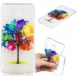 Oil Painting Tree Clear Varnish Soft Phone Back Cover for Samsung Galaxy A8 Star (A9 Star)