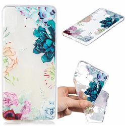 Gem Flower Clear Varnish Soft Phone Back Cover for Samsung Galaxy A8 Star (A9 Star)