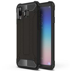 King Kong Armor Premium Shockproof Dual Layer Rugged Hard Cover for Samsung Galaxy A8 Star (A9 Star) - Black Gold