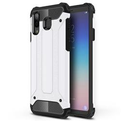 King Kong Armor Premium Shockproof Dual Layer Rugged Hard Cover for Samsung Galaxy A8 Star (A9 Star) - White