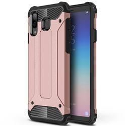 King Kong Armor Premium Shockproof Dual Layer Rugged Hard Cover for Samsung Galaxy A8 Star (A9 Star) - Rose Gold