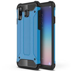 King Kong Armor Premium Shockproof Dual Layer Rugged Hard Cover for Samsung Galaxy A8 Star (A9 Star) - Sky Blue