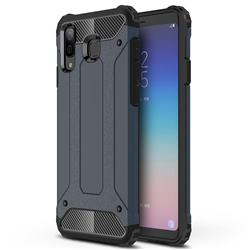 King Kong Armor Premium Shockproof Dual Layer Rugged Hard Cover for Samsung Galaxy A8 Star (A9 Star) - Navy