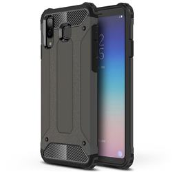 King Kong Armor Premium Shockproof Dual Layer Rugged Hard Cover for Samsung Galaxy A8 Star (A9 Star) - Bronze