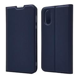 Ultra Slim Card Magnetic Automatic Suction Leather Wallet Case for Sharp AQUOS sense3 Plus SHV46 - Royal Blue