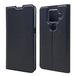 Ultra Slim Card Magnetic Automatic Suction Leather Wallet Case for Sharp AQUOS sense4 Plus - Star Grey