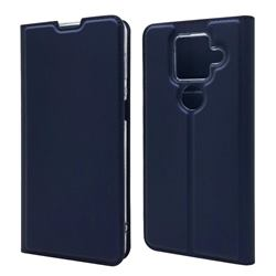 Ultra Slim Card Magnetic Automatic Suction Leather Wallet Case for Sharp AQUOS sense4 Plus - Royal Blue