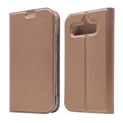 Ultra Slim Card Magnetic Automatic Suction Leather Wallet Case for Softbank AQUOS Simple Sumaho4(AQUOS Simply4) - Rose Gold