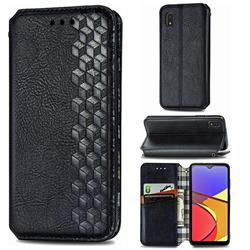 Ultra Slim Fashion Business Card Magnetic Automatic Suction Leather Flip Cover for Docomo Galaxy A21 Japan SC-42A - Black