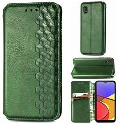 Ultra Slim Fashion Business Card Magnetic Automatic Suction Leather Flip Cover for Docomo Galaxy A21 Japan SC-42A - Green