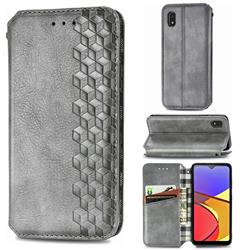Ultra Slim Fashion Business Card Magnetic Automatic Suction Leather Flip Cover for Docomo Galaxy A21 Japan SC-42A - Grey