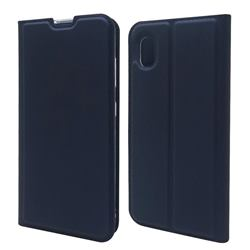 Ultra Slim Card Magnetic Automatic Suction Leather Wallet Case for Docomo Galaxy A21 Japan SC-42A - Royal Blue