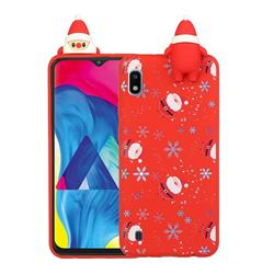 Snowflakes Gloves Christmas Xmax Soft 3D Doll Silicone Case for Samsung Galaxy A01