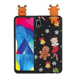 Gift Snow Christmas Xmax Soft 3D Doll Silicone Case for Samsung Galaxy A01