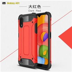 King Kong Armor Premium Shockproof Dual Layer Rugged Hard Cover for Samsung Galaxy A01 - Big Red