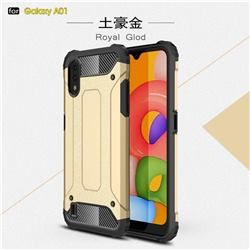 King Kong Armor Premium Shockproof Dual Layer Rugged Hard Cover for Samsung Galaxy A01 - Champagne Gold